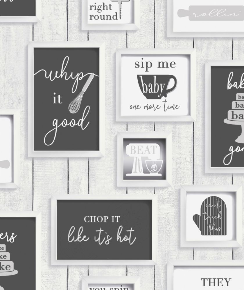 Graham and Brown Framed Quotes Black/White 106631 Wallpaper PB